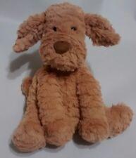"""Jellycat Puppy Dog Light Brown Tan Fuddlewuddle 9"""" Plush Stuffed Animal Swirled"""