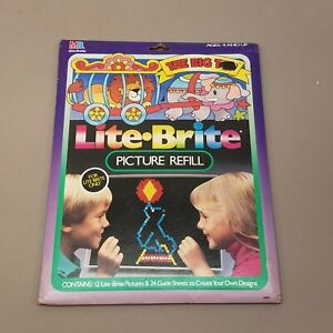 Lite Bright The Big Top Circus 12 Piece Character Sheets +24 Guide Sheets UNUSED