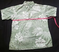 HAWAIIAN SHIRT Aloha  Medium Pullover by ONO company  Cotton Green
