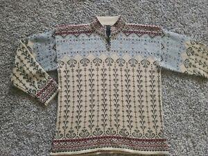 OBERMEYER Wool Blend Ski Winter women's sweater w/buttons, sz M