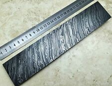 Premium Damascus Steel Billet Bar 25x5cm Bush Crafts Knife making FireStorm 1700