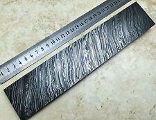 Premium Acciaio Damasco Billet BAR 25x5cm Bush artigianato coltello rendendo Tempesta di Fuoco 1700