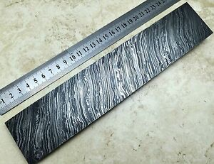 Premium Damascus Steel Billet Bar 25x5cm Knife making Crafts FireStorm 1700