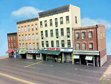 Z Scale Buildings - Downtown apartments with shops  Cardstock kit set CZ015