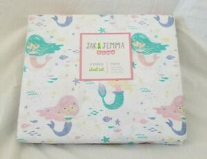 3 pc Jak & Jemma Mermaids Twin Sheet Set NIP