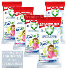 GREEN SHIELD ANTI-BAC FOOD SURFACE WIPES GREASE SMEAR FREE STAIN DIRT FAST