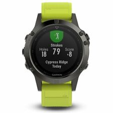 Garmin Fenix 5 Slate Gray w/ Amp Yellow Band GPS Multisport Watch - 010-01688-02