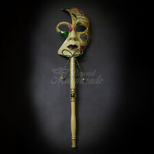 Handheld Stick Venetian New Orleans Masquerade Mask for Women M6141C