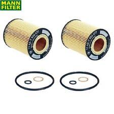 For BMW E53 E60 E63 E65 E66 645Ci 745i B7 X5 Set of 2 Oil Filter Mann HU7155X
