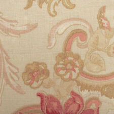 Set of 2 Laura Ashley 11 inch x 11 inch fabric off cuts - Baroque Red Gold