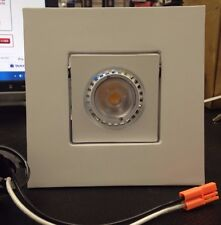 """Cyber Tech  4"""" Square Pivoting LED  Downlight Recessed Lighting"""