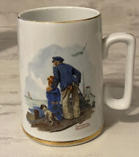 Vintage 1985 Norman Rockwell Museum Inc. Looking Out to Sea Coffee Mug Cup Art