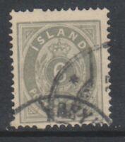 Iceland - 1876/95, 6a Grey or Greenish Grey stamp - Used - SG 15a/b (f)