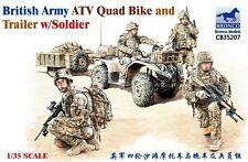 Bronco 1/35 35207 British Army ATV Quad Bike and Trailer w/Soldiers
