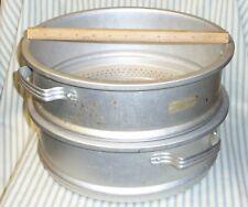 """Two Large ~12"""" Commercial / Restaurant Steamer/Strainer Insert Aluminum Cookware"""