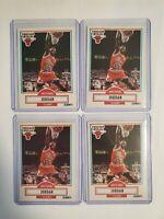1990 Michael Jordan Fleer # 26 Lot Of 4 Cards
