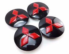 WHEEL CENTER HUB CAPS RED BLACK 56mm. Parts FOR Mitsubishi Lancer  Ralliart Evo