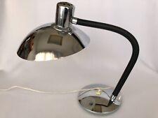 LAMPE DE BUREAU 1970 EN METAL CHROME REGLABLE ABAT JOUR VINTAGE DESIGN  C2175
