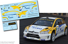 Decal 1:43 Juha Kankkunen - CITROEN C4 WRC - Rally Islas Canarias 2015