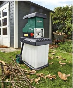 Parkside Electric Garden Shredder Powerful 2800W Turbo Motor 60L Collection box