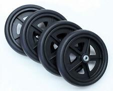 "Rollator Walker Replacement Parts 8"" Caster Wheel Black Tire C4608-BK 4 pcs NEW"