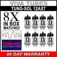 New Gain Matched Octet (8) Tung-Sol Reissue 12AX7 ECC83 Tubes - Auth. Dealer
