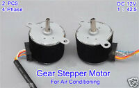 2PCS 35BY412 Gear Stepper Motor DC12V Permanent Magnet 4-Phase 5-wire Ra 1/42.5