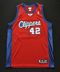 ELTON BRAND LOS ANGELES CLIPPERS REEBOK AUTHENTIC JERSEY RED AUTHENTIC  48 XL