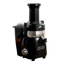 Retro Super Fast Centrifugal Juicer Black + Free Juice Diet Book (Refurbished)
