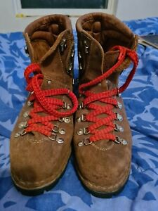 brown leather hiking boots 10 1/2M made in italy