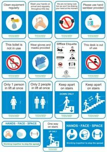 Social Distancing 19Covid Safety Signs - 300x200mm Plastic or Sticker