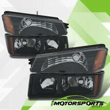 2002-2006 Chevy Avalanche Body Cladding Model Headlights+Bumper Signal Lamps Set