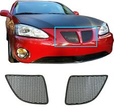CCG 04-08 PONTIAC GRAND PRIX GTP GRILL GRILLE TOP ONLY INSERTS POWDER COAT BLACK