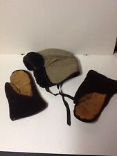 Vintage Polar Mittens And Hat