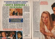 Coupure de presse Clipping 1990 Santa Barbara rien ne va plus(3 pages) M. Walker