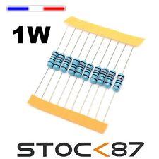 10 à 100pcs  résistance carbonne 1W - carbon resistor 1 ->390Komhs