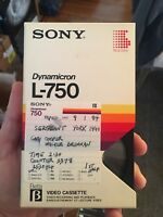 Lot of 10 Beta Sony Tapes L-750 (Used Tapes Sold As Blanks) READ DESCRIPTION