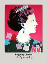 ANDY WARHOL - Queen Margrethe II - RARE ORIGINAL 1986 ART PRINT POSTER