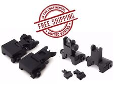 Ar Tactical Iron Sights Flip up Front and Rear Set Picatinny Transition Aluminum