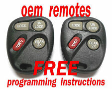 OEM PAIR GMC CHEVY PONTIAC SATURN KEYLESS REMOTE ENTRY FOBS TRANSMITTER ABO1502T