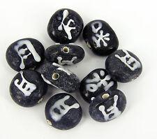 Belle lampe de travail verre noir bijoux ronde chinois perles Pk 20 G45