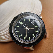 Vintage Sears Dive/Diver/Diving Watch w/Mint Glossy Black Dial,Warm Patina