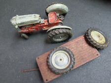 """VINTAGE 1950 HUBLEY KIDDIE TOY 1/10 SCALE TRACTOR MADE IN LANCASTER PA.11"""" w/ +"""