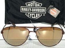 Nuevo * Harley-Davidson HD204 bronce de cañón Bronce W 63mm de Aviador Lentes Espejados Gafas de sol