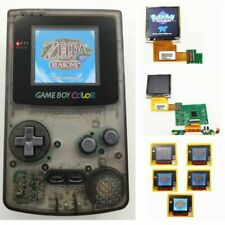 Nintendo Game Boy Color GBC System Backlight Backlit Brighter Mod Clear Black