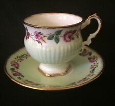Elizabethan Fine Bone China Tea Cup and Saucer Gold Rim Footed England PERFECT!