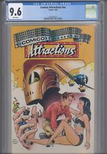 Comico Attractions #nn CGC 9.6 1987 Comico  Dave Stevens Cover: New Frame