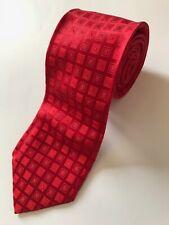Krawatte LORENZO CANA rote Quadrate   tie / cravat LORENZO CANA red squares