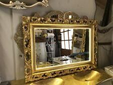 Specchio Stile Barocco Foglia Oro/argento Con Led Illuminazione