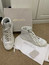 7143f81ba495 Jimmy Choo Ace Star White Mens High Top Trainers EU 46 Used But VGC UK12